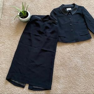 Kasper ASL Black Skirt Suit Size 6P